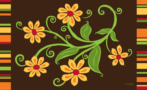 Yellow Flower Door Mat Image