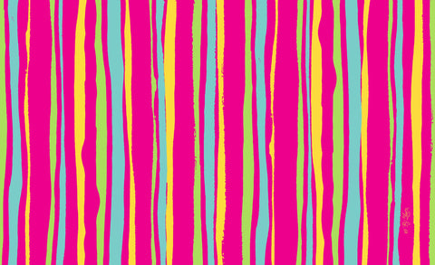 Pink Stripes Door Mat Image