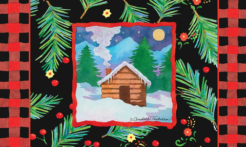 Cozy Cabin Door Mat Image
