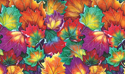 Leaf Collage Door Mat Image