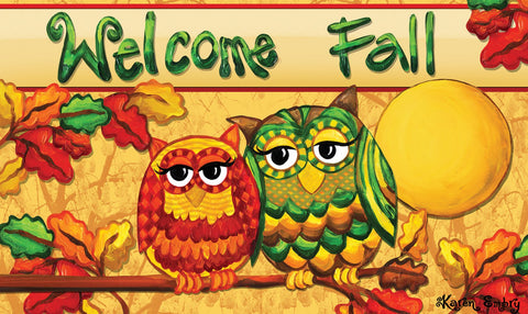 Fall Owls Door Mat Image