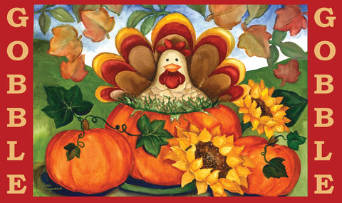 Autumn Turkey Door Mat Image