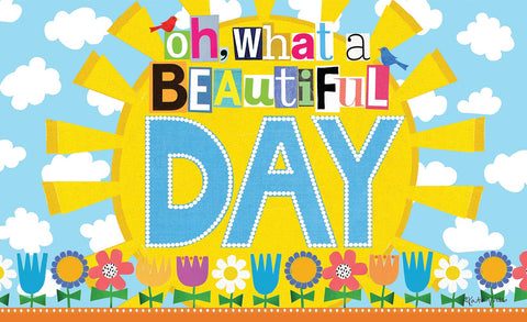 What a Beautiful Day Door Mat Image