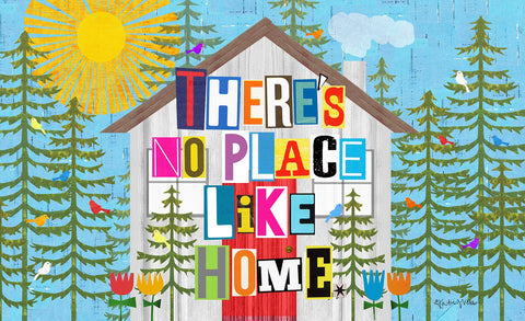 No Place Like Home Door Mat Image