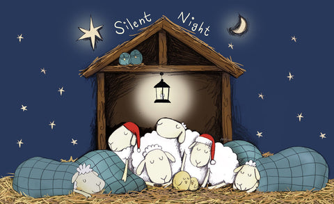 Silent Night Door Mat Image