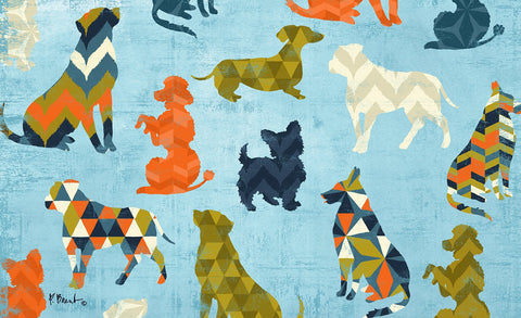 Dog Pattern Door Mat Image
