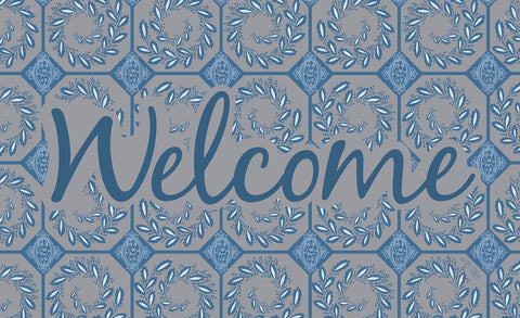 Elegant Ivy Welcome - Slate Door Mat Image