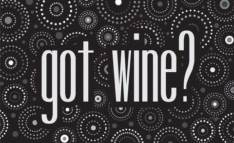 Dot Wine - Monochrome Door Mat Image