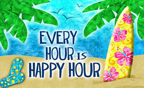 Happy Hour Surf Door Mat Image