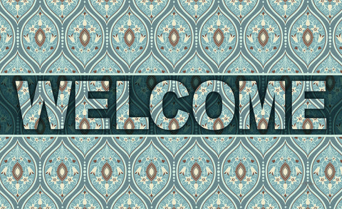 Ornate Droplets Welcome Door Mat Image