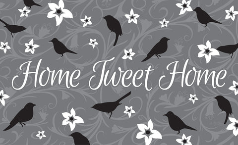 Home Tweet Home - Gray Door Mat Image