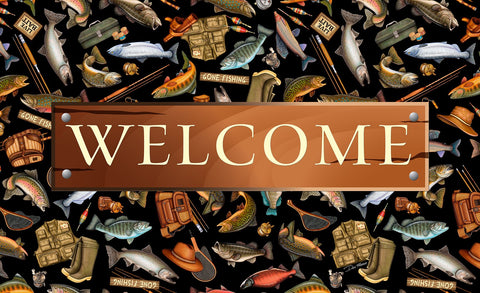 Angler A-lure Welcome Door Mat Image