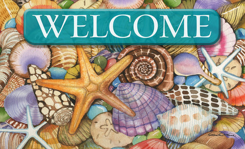 Shells of the Sea Welcome Door Mat Image