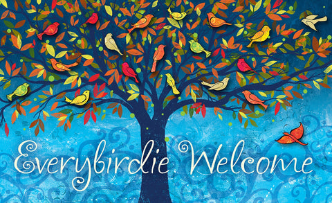 Everybirdie Welcome Door Mat Image