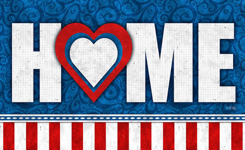 Heart of the Home - Patriotic Door Mat Image