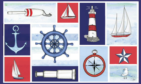 Nautical Collage Door Mat Image