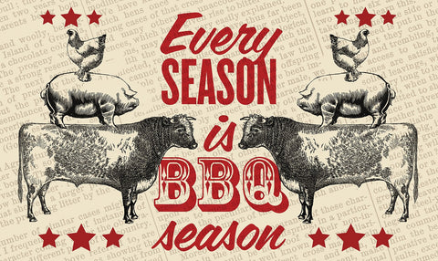 BBQ Season Door Mat Image