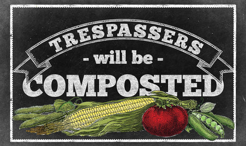 Compost Trespassers Door Mat Image