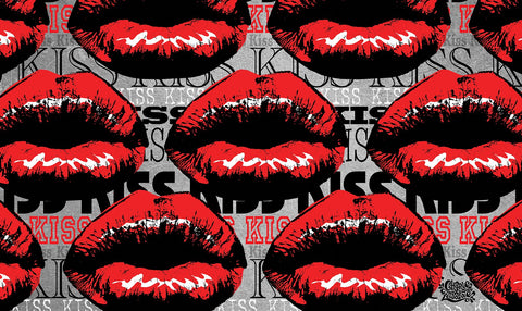 Kiss Kiss Collage Door Mat Image