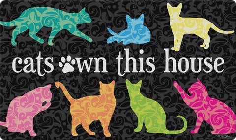 It's the Cat's House Door Mat Image