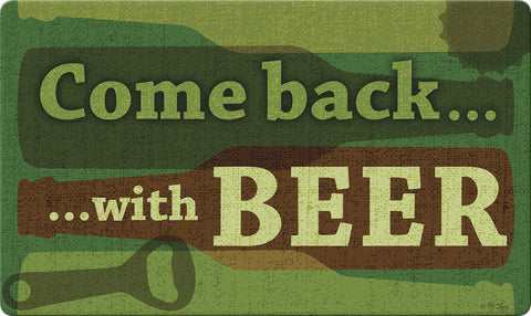 Back With Beer Door Mat Image