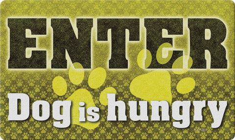 Feed the Dog Door Mat Image