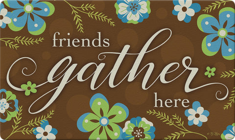 Gathering Friends Door Mat Image