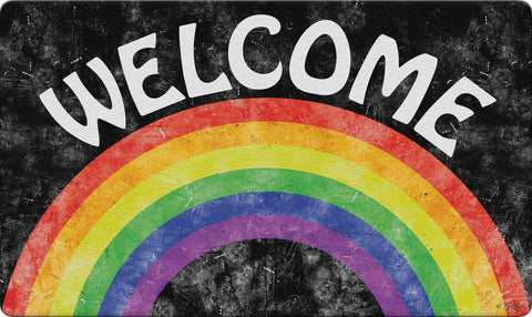 Welcome Rainbow Door Mat Image