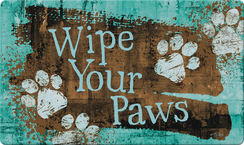 Turquoise Paws Door Mat Image