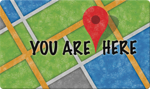 You Are Here Door Mat Image