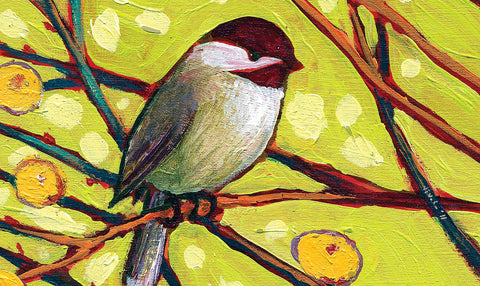 Chickadee Blossoms Door Mat Image