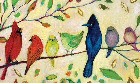 Rainbow Birds Door Mat Image