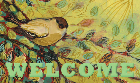 Warbler Welcome Door Mat Image