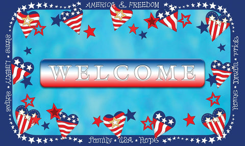 Welcome Stars And Stripes Door Mat Image