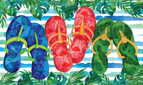 Fancy Flip Flops Door Mat Image