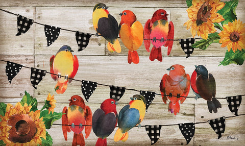 Farmhouse Birds Door Mat Image