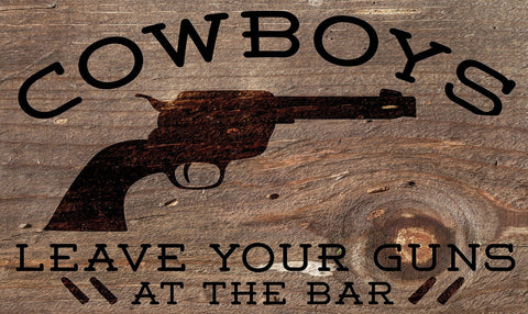 Cowboys Warning Door Mat Image