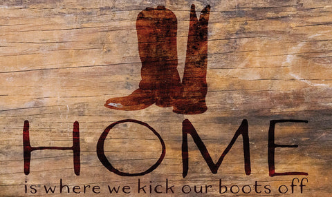 Kick Your Boots Off Door Mat Image