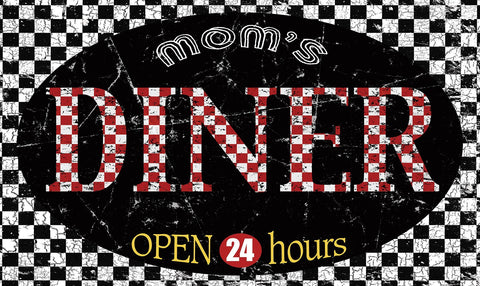 Mom's Diner Door Mat Image