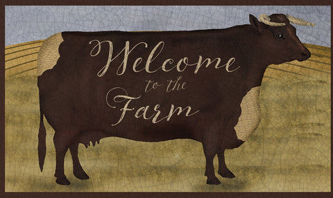 Welcome To The Farm Door Mat Image