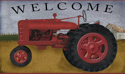 Tractor Welcome Door Mat Image
