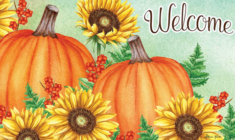 Welcome Sunflowers Door Mat Image