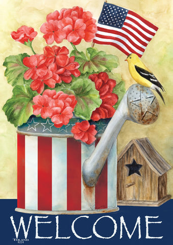 Patriotic Watering Can Image 1