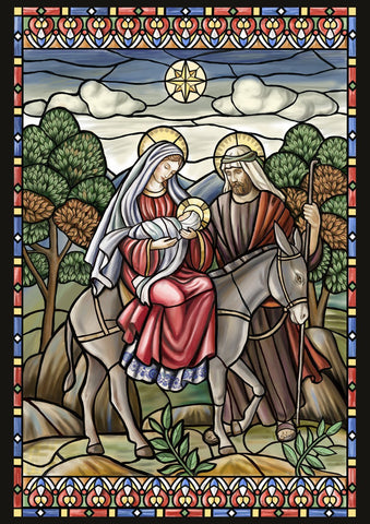 Stained Glass Nativity Image 1