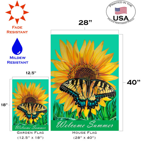 Swallowtail Sunflower Flag Toland Flags