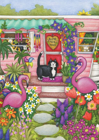Kittens And Flamingoes Image 1