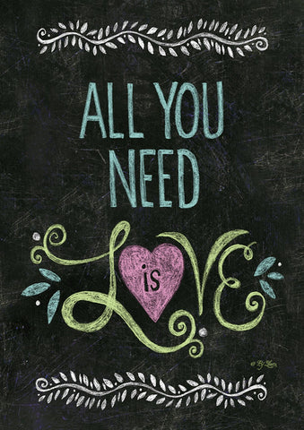 All You Need Is Love Chalkboard Image 1
