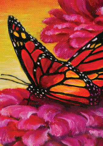 Painted Monarch On Pink Image 1