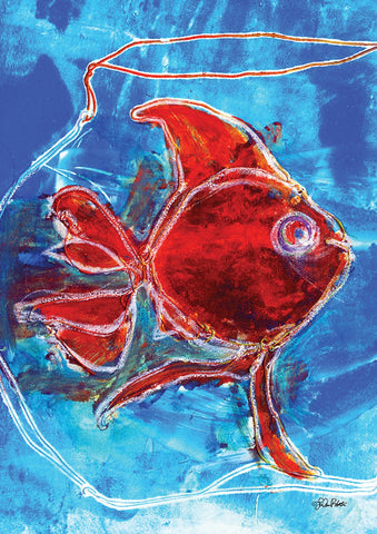 Watercolor Red Goldfish Image 1