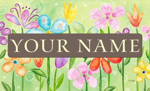 Spring Blooms Personalized Mat Image